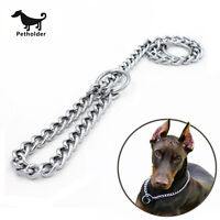 Petholder® Pet Dog Training Collar Chain Metal Steel Strong Choke Necklace