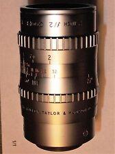 """Taylor & Hobson Cooke Cmt 2"""" f/2 m25 Lens m4/3 Nex APS-C Canon Nikon Pentax RARE"""