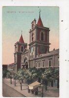 Valletta St Johns Church Malta Vintage Postcard 832a