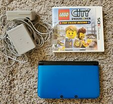 Nintendo 3DS XL Blue Works great SD Card / Chargers / Lego City UnderCover game