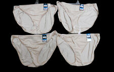 NWT 4 pairs VANITY FAIR String Bikini BEIGE nylon PANTIES panty SZ- 9 / 2XL
