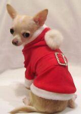 Dog Hoodie/Dog Clothes/Holiday/XMAS Santa Dog Jacket/Hoodie/XS,S,M, FREE SHIP