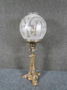 ANTIQUE circa 1850s AMERICAN ASTRAL SOLAR BRASS LAMP signed CORNELIUS