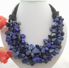 Charming! Onyx&Natural Lapis Necklace