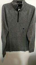 Abercrombie & Fitch Large Knit Sweater 1/4 zip Pullover GRAY