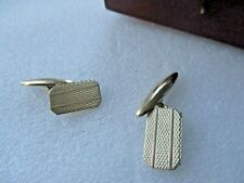 "Tone Rectangular Etched Cufflinks Men'S Vintage ""Imitation"" Gold"