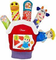 Chicco Basse-Cour Doigt Main Marionnette Ferme Animal Plissé Couineur Hochet Toy