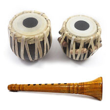 Handmade Crafted Indian Traditional Classical Miniature Shehnai and Tabla Set