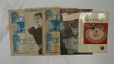 Vintage 5 Assorted Tatting Instruction Crochet Costume Collar Belt Craft Book
