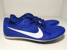 Nike Zoom Victory 3 Racing Spikes Blue White 835997-411 Men's Size 12