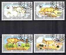 Mongolie 1986 Animaux (4) Yvert n° 1477 à 1480 oblitéré used