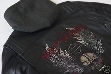Harley Davidson Men Dungeon Winged Skull Leather Jacket Hood 3in1 2XL 97179-10VM