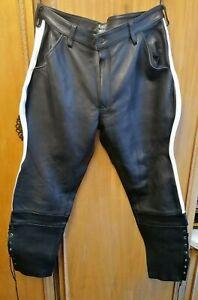 "Men's Leather Motorcycle Bike Trousers 38"" Waist 30"" Inside Leg BRAND NEW"
