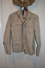 New Men's H&M Divided Tan Parka Utility Jacket Size Small Fashion Design