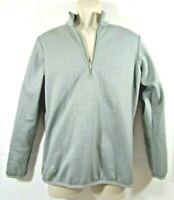 Adidas Golf Quarter Zip Pullover Sweatshirt Gray Men's Water ResistantSz Medium