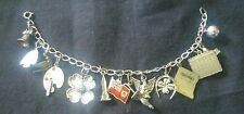 "VTG BSA SCOUTING Sterling silver Charm BRACELET Chain 7"" Boy Scouts Mom 925"