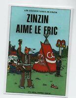 Carte Postale PASTICHE Tintin par JO HELL. ZINZIN AIME LE FRIC - 2008