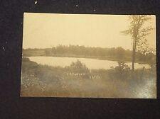 vtg POSTCARD c1910 LARWILL INDIANA RPPC REAL PHOTO LAKE NATURE SCENE HISTORICAL