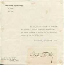 Robert Van Der Straten-Ponthoz - Signature(S) Circa 1/25/1