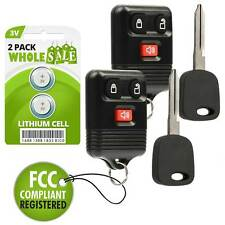 2 Replacement For 1998 1999 2000 2001 2002 2003 F-150 F150 F 150 Key + Fob