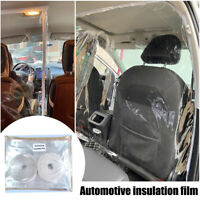 Car SUV Taxi Isolation Film Plastic Anti-Fog Full Driver Protective Cover Net US