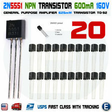 20pcs 2N5401 PNP Transistor 150V 600 mA TO-92 Package USA Seller