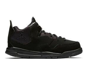 Nike Jordan Courtside 23 PS Preschool Triple Black AQ7734 001 Basketball Shoes