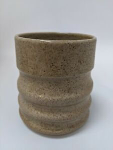 Handmade Ceramic Vase/Kitchen Utensil Pot Speckled Sculpted 12cm