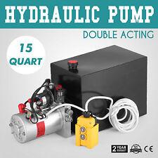 15L Hydraulikaggregat, 12V Kompaktaggregat für doppeltwirkende Zylinder, 2200W