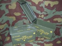 Cassetta portamunizioni in lamiera.  Mis. cm 28x14x18 -usata-