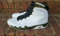 Nike Air Jordan 9 IX Retro Statue White Black Militia Green 302370-109 Men's 13