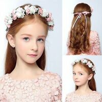 Beach Kids Headwear Floral Garland Rose Flower Hairband Crown Headband