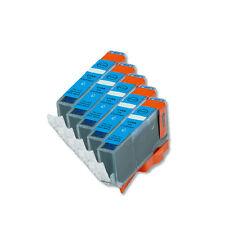 5 Cyan Ink Cartridge + smart chip for CLI-221 221 MX860 MX870 MP980 MP990