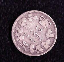 CANADA 10 CENTS 1900 SILVER