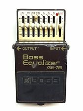 Boss GE-7B, Bass EQ, 7 Band, Made In Japan, 1987, Bass Effect Pedal