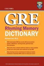 Columbia GRE Rhyming Memory Dictionary (Paperback or Softback)