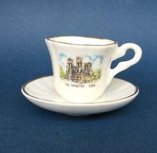 Bone China Miniature Cup & Saucer - The Minster, York