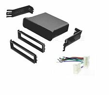 CAR STEREO RADIO DASH POCKET KIT WITH WIRE HARNESS FOR TOYOTA