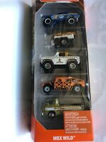 SPANKING HOT NEW MATCHBOX  5 PACK MBX WILD