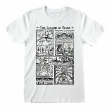 Official The Legend Of Zelda Drawings T Shirt Nintendo Classic Link Nav NES Game