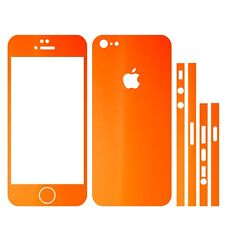 22 FAR. IPHONE 5 FOLIE ORANGE MATT ( BUMPER COVER HÜLLE SCHALE CASE STICKER )