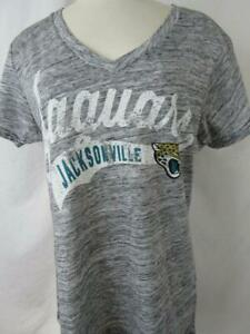 Jacksonville Jaguars Womens XL Screened Distressed V-Neck T-Shirt  AJJS 127