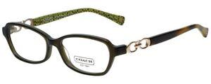 New COACH Frames Dark. Olive Acetate RX Eyeglasses HC 6017 Vanessa 5036 52 15
