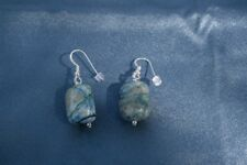 Ajoite and Papagpote Earrings Love, returning to a state of grace, transmutation