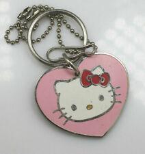 1976-2007 Sanrio Hello Kitty Pink Enamel Key Chain #4027