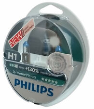 H1 PHILIPS X-treme Vision +130% P14,5s 55W headlight 2 bulbs  12258XV+S2