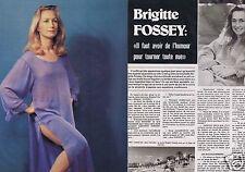 Coupure de presse Clipping 1976 Brigitte Fossey  (4 pages)