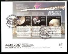 URUGUAY 2017, SPACE,COSMOS,METEORITS S/SHEET FDC