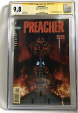 PREACHER #1 (Vertigo 1995) Signed Garth Ennis Graded 9.8 by CGC Signature Series