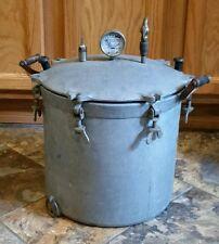Antique 18 QUART PRESSURE COOKER CANNER NATIONAL ALUMINUM Eau Claire Wisconsin